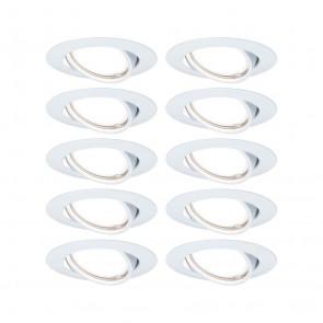 EBL Base 10er-Set Ø 9 cm weiß 1-flammig rund