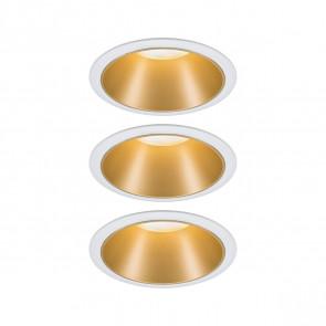 Cole Coin 3er-Set Ø 8,8 cm weiß 1-flammig rund