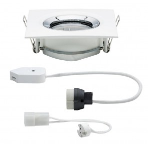 Premium, EBL, Nova IP65 schwb eck max1x35W GU10/GU5.3 51mm Weiß matt-Chrom/Alu Zink
