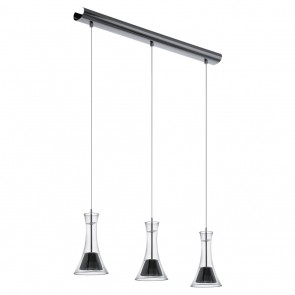 Musero, LED, 3-flammig, Nickel-Nero