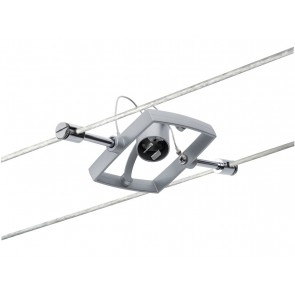 WireSystem Spot MacII, max 1x10W GU5.3 Chrom matt 12V Metall/Kunststoff