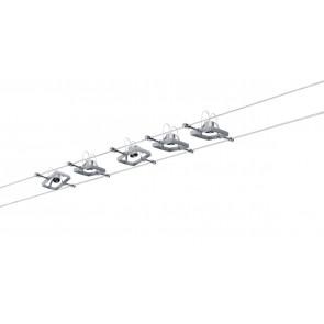WireSystem Set MacII, max 5x10W GU5.3 Chrom matt 230/12V 60VA Metall/Kunststof