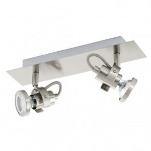 Tukon 3, LED, 2-flammig, schwenkbar, nickel-matt