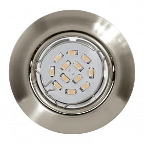Peneto, Ø 8,7 cm, 3er-Set, inkl LED, nickel matt