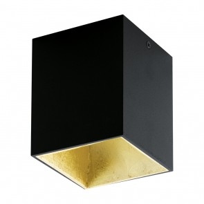 Polasso, LED, 10 x 10 cm, Schwarz-Gold
