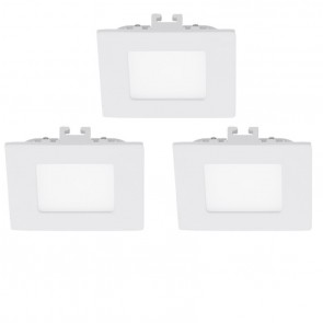 Fueva 1, LED, 3er-Set, 8,5 x 8,5 cm, 3000K, weiß