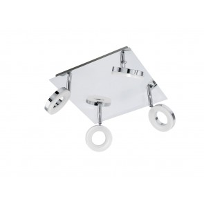 Gonaro, 4-flammig, IP44, quadratisch, inkl LED