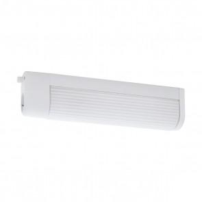 Bari 1, Länge 35 cm, mit Steckdose, mit Schalter, weiß