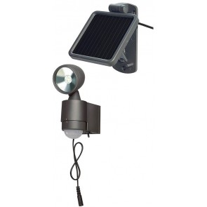 Solar LED-Spot SOL 1x4 IP44 mit Infrarot-Bewegungsmelder 4xLED 0,5W 160lm Kabellänge 4,75m Farbe Anthrazit