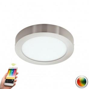 Fueva-C, LED, Ø 30 cm, Farbwechsel, CCT, Nickel-matt