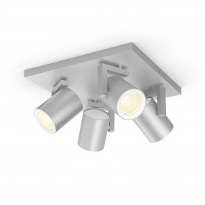 Argenta White & Color Ambiance, 4 flg., aluminium, 3x350lm, 2.000–6.500 K