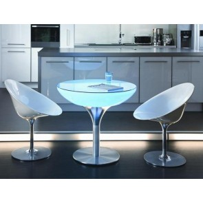 moree Lounge 75 LED Pro Accu, Farbwechsel, Höhe 75 cm, Ø 84 cm, Fernbedienung, inkl Glasplatte