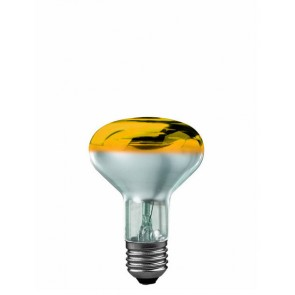 R80 E27 60W 8 cm, gelb