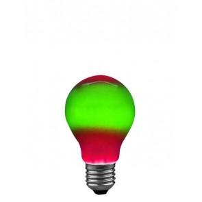 E27 25W 6 cm, rot/grün