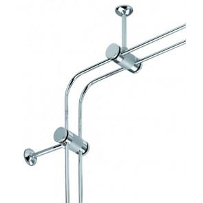 1 Paar Eckverbinder für Canta Länge 15 cm chrom eckig