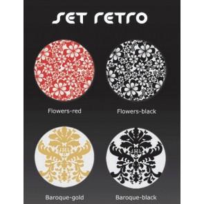 Dekorauflage - Retro - Flowers red