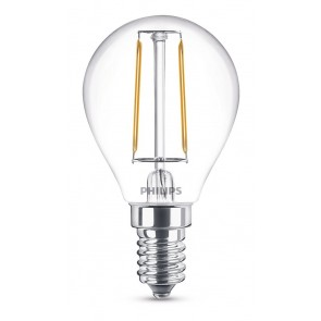 LED Classic E14 (P45) 2W (ersetzt 25W), 250lm, warmweiß 2700K, klar