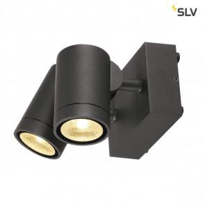 Helia, LED, IP55, 2-flammig, schwenkbar, anthrazit