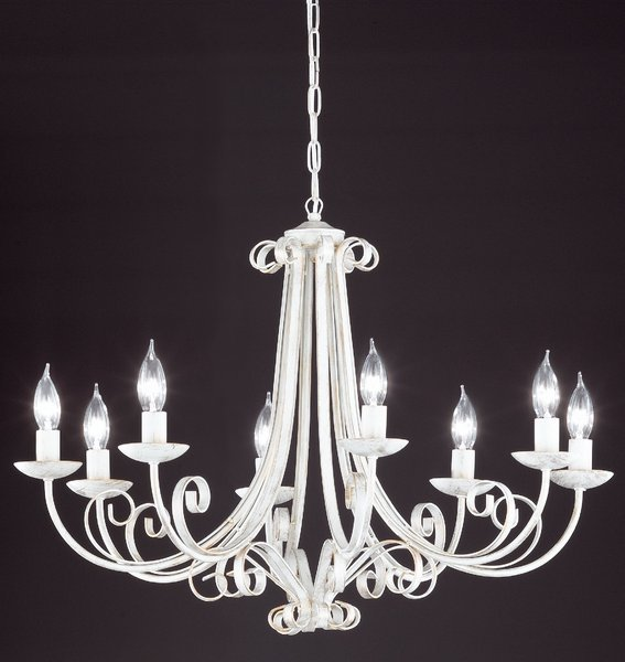 Lampe & Leuchte>Honsel Pisa Kronleuchter - Weiß/Goldfarbig, groß ...